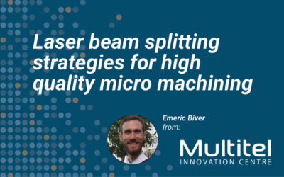 Laser beam splitting strategies for high quality micro machining
